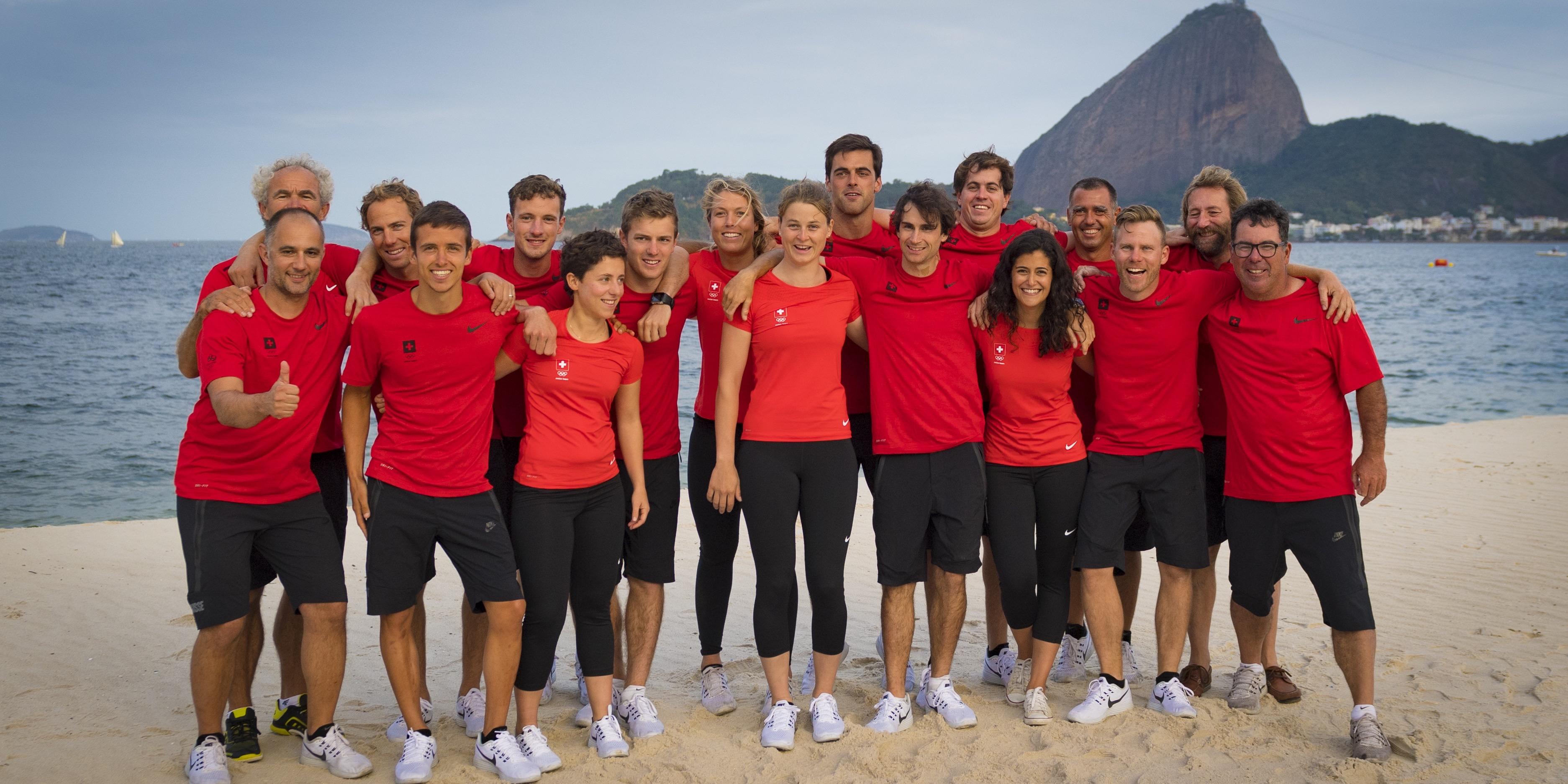 Brazil Rio de Janeiro 2. August 2016 Marina di Gloria, Rio 2016 Olympic Games,  Swiss Olympic Sailing Team
