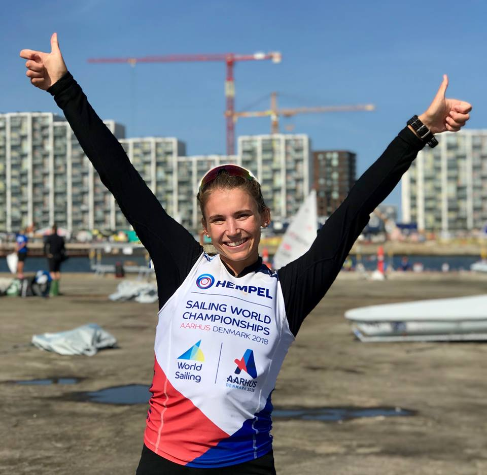 Olympic Classes - World Championship 2018 - Aarhus DEN - Day 8 - Maud Jayet SUI qualifie la Suisse