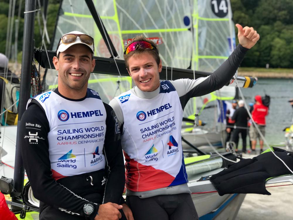 Olympic Classes - World Championship 2018 - Aarhus DEN - Day 10 - Schneiter/Cujean SUI qualifient la Suisse
