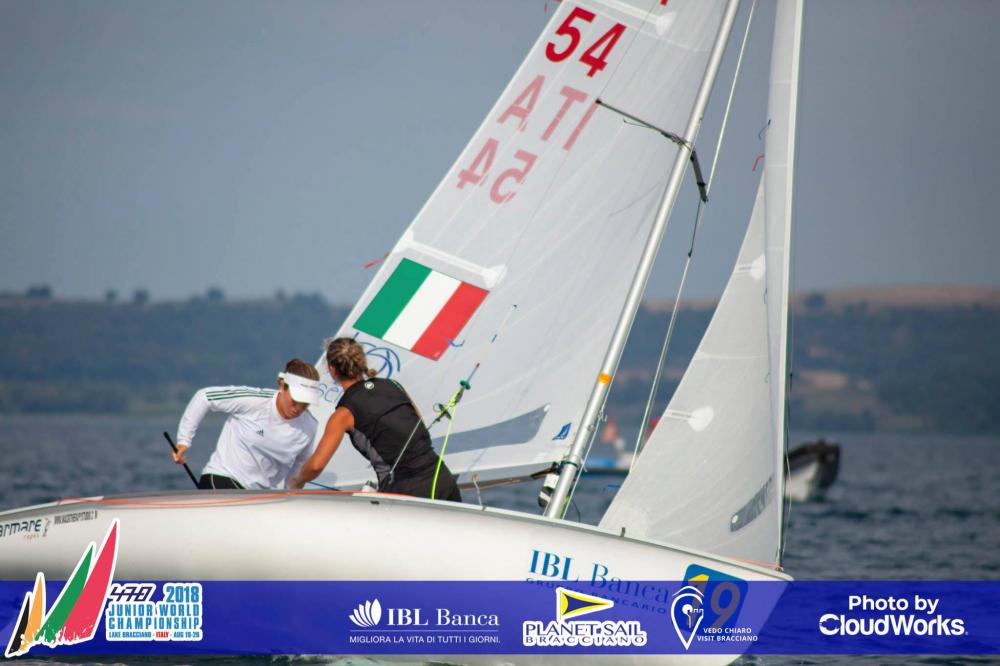 470 - Junior World Championship 2018 - Lago di Barcciano ITA - LOr pour la France et lItalie