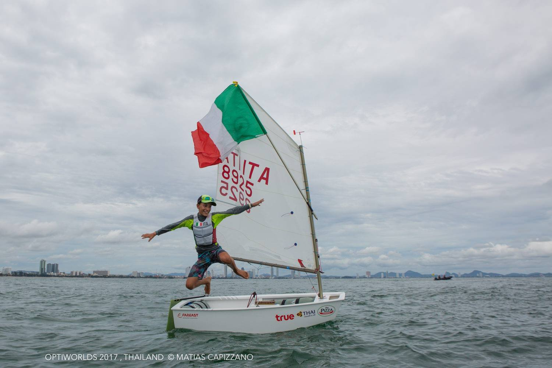 Optimist - World Championship 2018 - Limassol CYP - Final results - LOr pour Marco Gradoni ITA