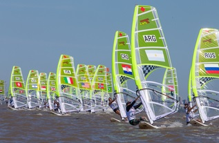 Nacra 15-Catamaran, Kite-Boarding, Techno 293 Windsurfer - Youth Olympic Games - San Isidro ARG - Day 4