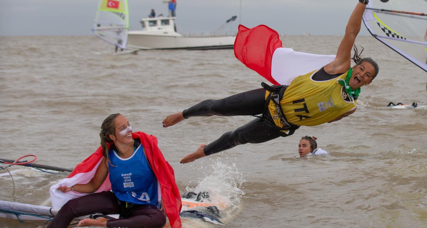 Nacra-15, Kiteboarding, Techno293-Windsurfer - Youth Olympics - San Isidro ARG - Day 5 - Gold for ITA and GRE