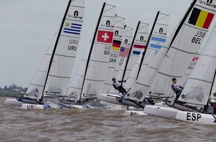 Nacra-15, Kiteboarding, Techno293-Windsurfer - Youth Olympics - San Isidro ARG - Day 6
