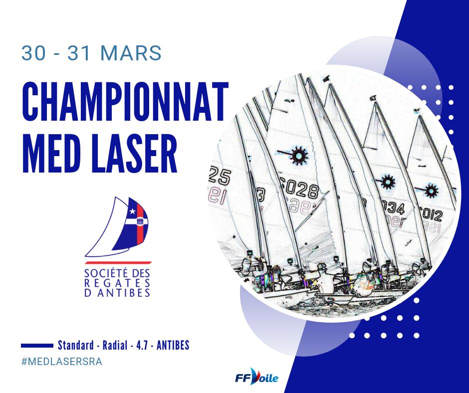 Laser - Championnat de la Méditerrannée - Antibes FRA - Final results