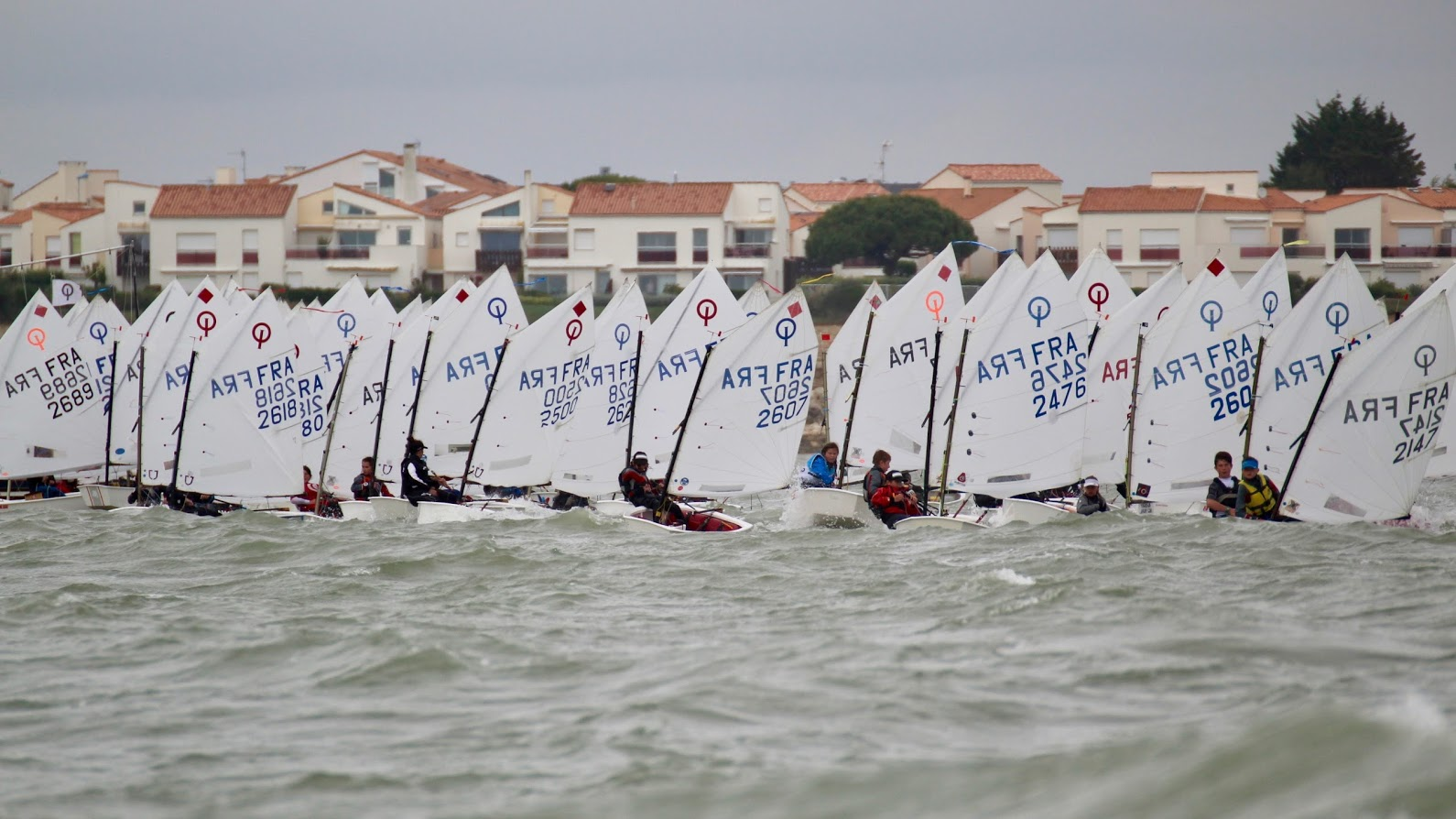 Optimist - Coupe Internationale - La Rochelle FRA - day 1