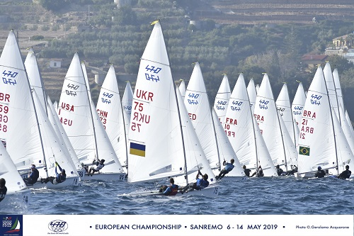 470 - European Championship 2019 - San Remo ITA - Day 3