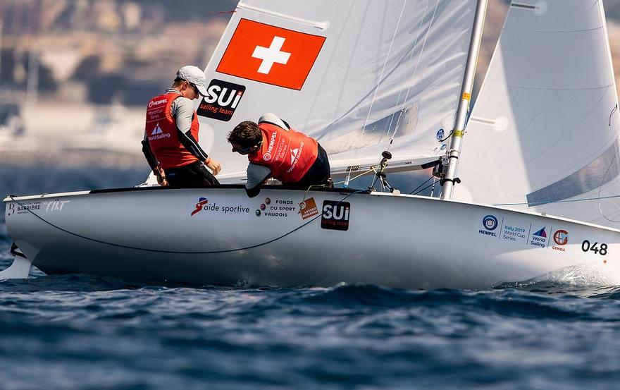 Olympic Wolrdcup 2019 - Act 3 - Genova ITA - Day 6 - Wagen/Siegwart SUI et Maud Jayet SUI en lutte pour les  médailles