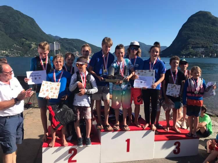 Optimist - Team Race Swiss Championship - CV Lago di Lugano - Victoire pour le CV Vevey-La Tour