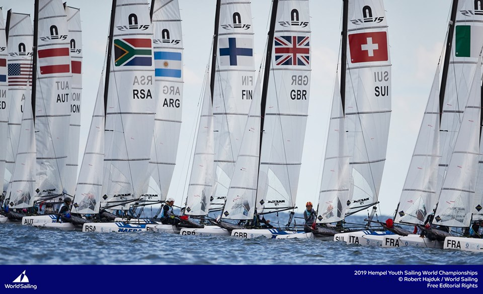 29er, 420, Laser Radial, Nacra 15, RS:X-Windsurfer - Youth World Championship 2019 - Gdynia POL - Day 2