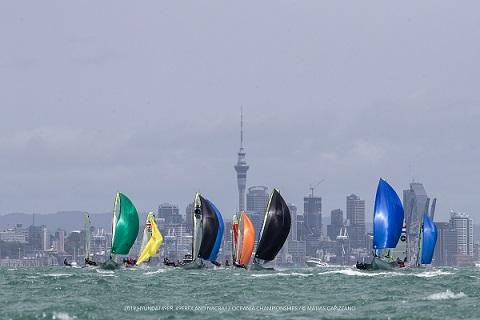49er, 49erFX, Nacra 17 - Oceania Championship- Auckland NZL - Day 2