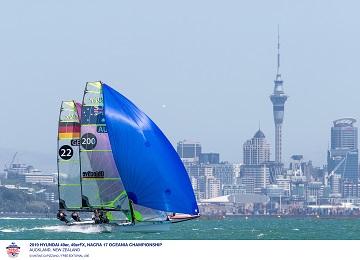 49er, 49erFX, Nacra 17 - Oceania Championship- Auckland NZL - Day 1