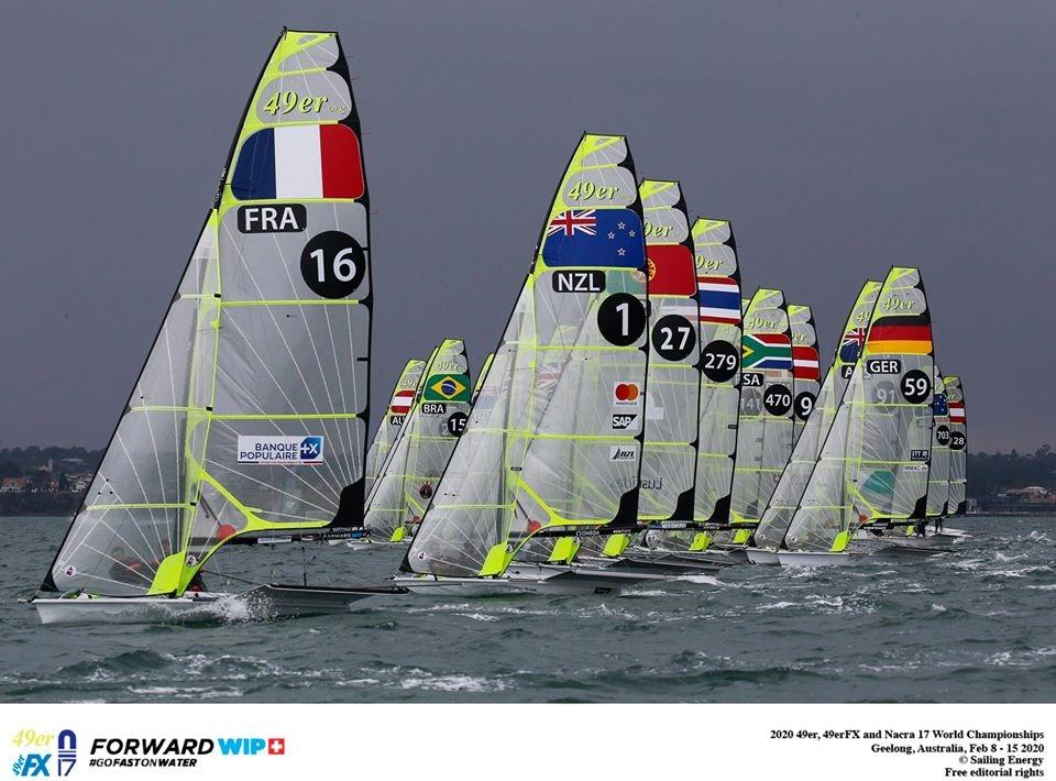 49er, 49erFX, Nacra 17 - World Championship 2020 - Geelong AUS - Day 2