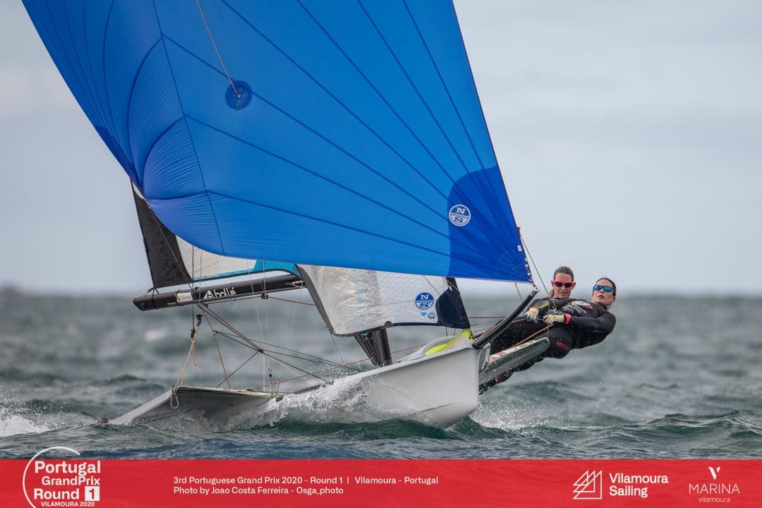 Laser, 49er, 49FX - Portugal Grand Prix - Vilamoura POR - Day 2 - Maud Jayet SUI en tête !